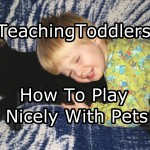 Teaching Toddlers How To Play Nicely With Pets