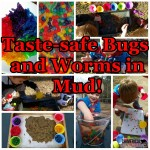 Taste-safe Bugs and Worms in Mud! Fun Sensory Play